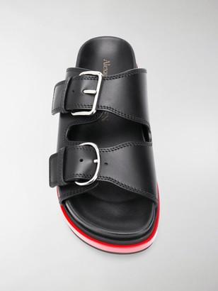 Alexander McQueen Trompe L'oeil slide sandals