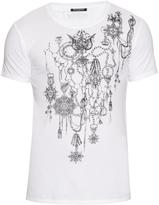 Balmain Short-sleeved medallions-print cotton T-shirt