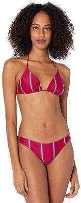 O'Neill Palmas Stripe Revo Triangle Top (Sangria) Women's Swimwear