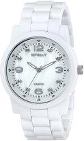Sprout Women's ST5008MPWT Eco-Friendly Diamond Dial White Corn Resin Bracelet Watch