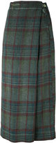 Massimo Alba plaid wrap skirt - women - Linen/Flax - 42