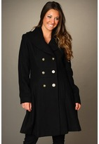 Jessica Simpson Double Breasted Textured Coat (Black) - Apparel