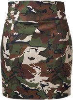 Alexandre Vauthier camouflage fitted skirt