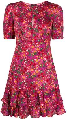 Liu Jo Floral Printed Flounce Dress