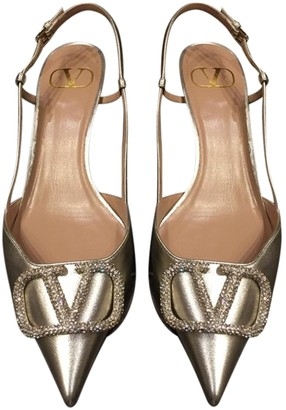 Valentino VLogo Silver Patent leather Sandals