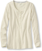 L.L. Bean West End Fitted Tee, Long-Sleeve Henley