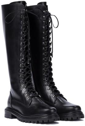 Aquazzura Combat leather knee-high boots