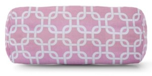 """Majestic Home Goods Links Decorative Round Bolster Pillow 18.5"""" x 8"""""""