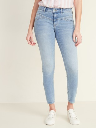 Old Navy Mid-Rise Seamed-Yoke Rockstar Super Skinny Jeans for Women
