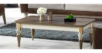 Everly Quinn Gallatin Coffee Table Table Base Color: Vizon Cream