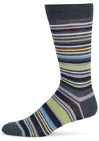 Saks Fifth Avenue Multistripe Merino Wool Mid-Calf Socks