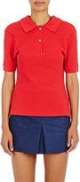 Balenciaga Women's Piqué-Knit Cotton Polo Shirt