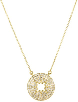 Latelita Open Star Disc Pendant Necklace Gold