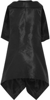 Rick Owens Sphinx Asymmetric Cape-back Faille Top - Black