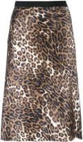 Nili Lotan leopard print skirt