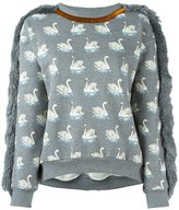 Stella McCartney duck print fringed sweatshirt - women - Cotton - 40