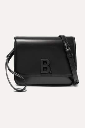 Balenciaga B Small Leather Shoulder Bag - Black