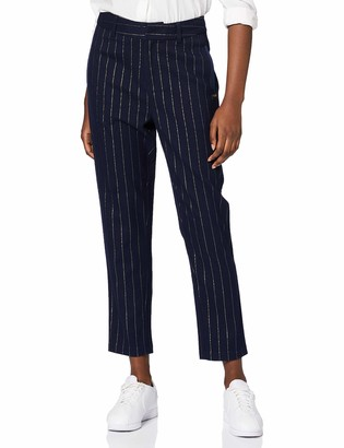 Scotch & Soda Maison Women's High Waisted Pant in Special Pinstripe Trouser