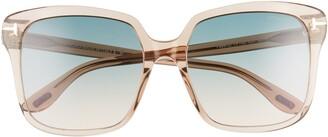 Tom Ford Faye 56mm Gradient Square Sunglasses