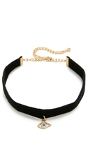 Rebecca Minkoff Evil Eye Choker Necklace