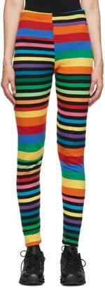 Comme des Garçons Homme Plus Multicolor Cotton Rainbow Stripe Legging