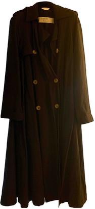 Lanvin Navy Wool Trench Coat for Women