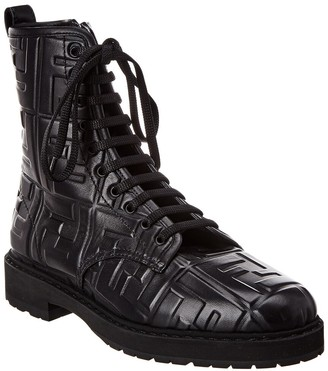 Fendi Leather Ankle Boot