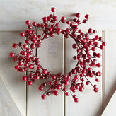 Pier 1 Imports Red Glitter Berry Mini Wreath