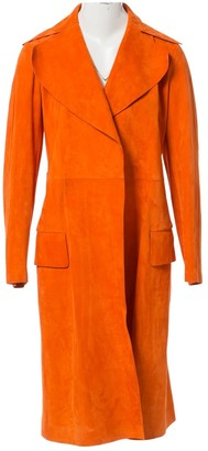 Celine \N Orange Suede Trench Coat for Women