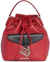 Love Moschino Two-Tone Love Charm Saffiano Bucket Handbag
