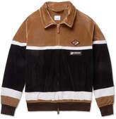 Burberry Logo-Appliqued Cotton-Blend Velour Track Jacket