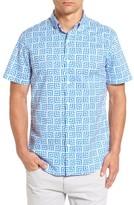 Bonobos Men's Slim Fit Optic Print Short Sleeve Sport Shirt