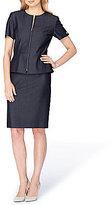 Tahari ASL Denim Zip-Front Skirt Suit