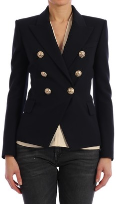 Balmain Buttons Blue Blazer