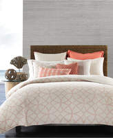 Hotel Collection Textured Lattice Linen King Duvet Cover, Created for Macy's Bedding