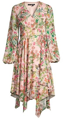 Jay Godfrey Eldon Floral Handkerchief Dress