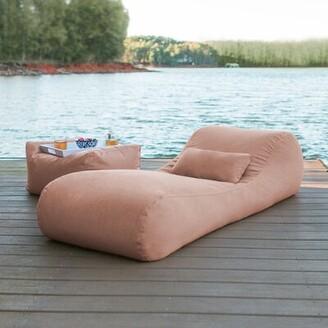 Freeport Park Daisha Outdoor Bag Sun Chaise Lounge with Cushion Freeport Park Color: Petal