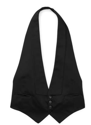 Ralph Lauren Mulberry Silk Jacquard Vest
