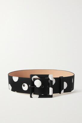 Carolina Herrera Polka-dot Faille Waist Belt - Black