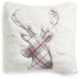 Levtex Plaid Reindeer Pillow