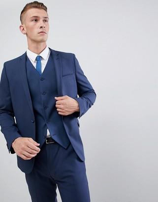 Asos Design DESIGN skinny suit jacket in mid blue