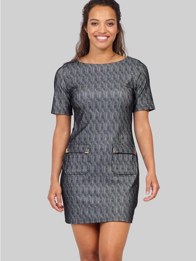 M&Co Izabel abstract print shift dress