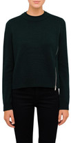Proenza Schouler Cashmere Knit With Zip Detail On Shoulder