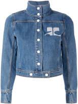 Courreges embroidered logo denim jacket