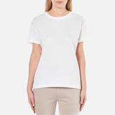 Alexander Wang Women's Superfine Jersey Short Sleeve Crew Neck TShirt - White