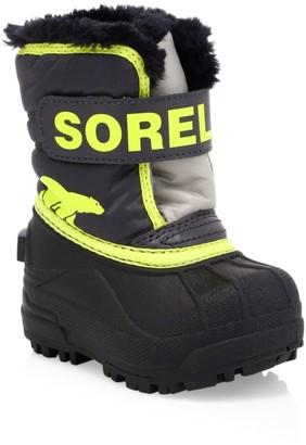 Sorel Baby's & Little Kid's Snow Commander Faux Fur-Lined Waterproof Boots