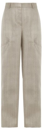 Jacquemus Moyo Crepe Wide-leg Trousers - Light Grey