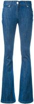 Pierre Balmain logo plaque flared jeans - women - Cotton/Polyurethane - 26