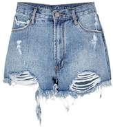 Articles of Society Meredith Blue Distressed Denim Shorts