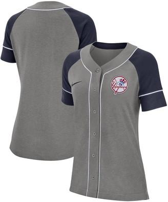 Nike Women's Gray New York Yankees Classic Baseball Jersey